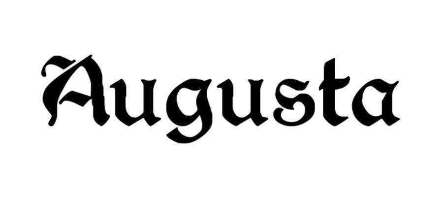 Augusta free gothic font family