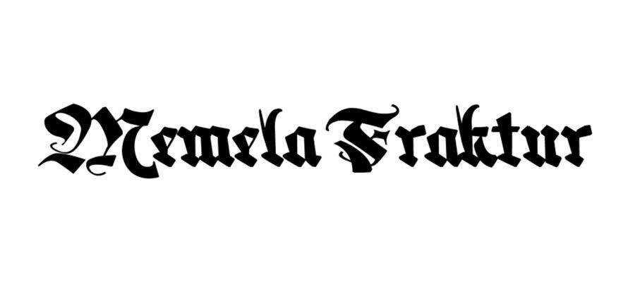 Memela Fraktur free gothic font family