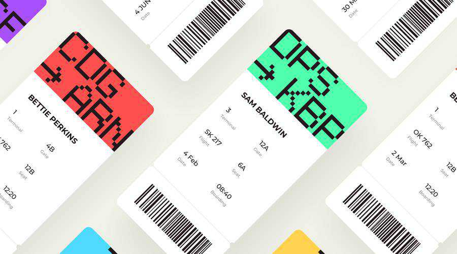 Boarding Pass free mobile app ui kit Sketch ios android