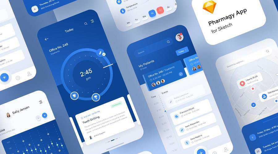 Pharmagy Medical free mobile app ui kit Sketch ios android