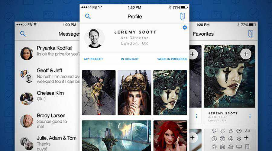 Find Your Creative free mobile app ui kit Sketch ios android