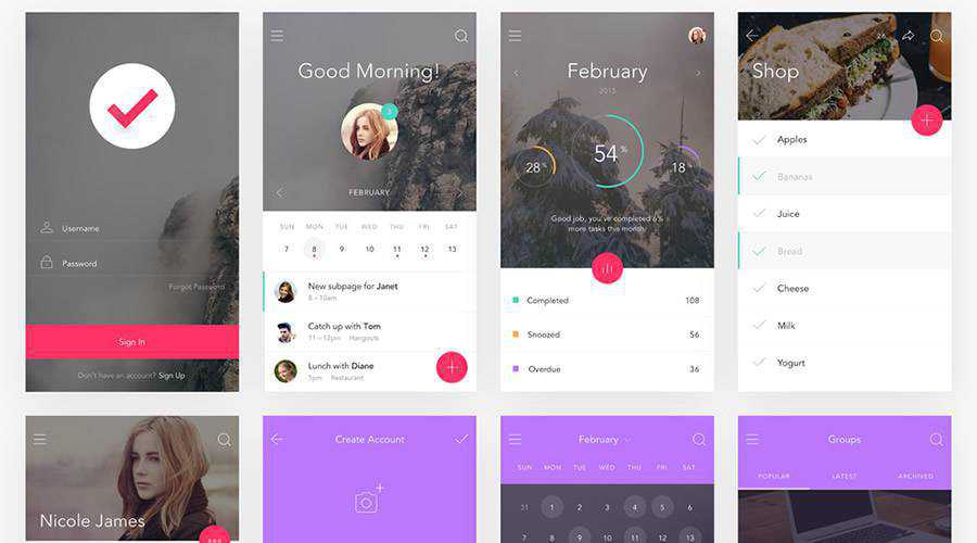 Do Free Mobile Productivity app ui kit ios android