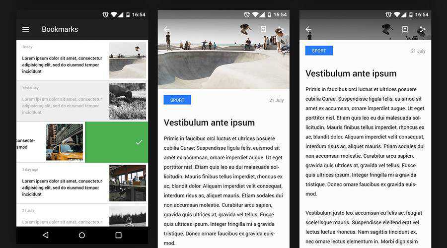 Android Reader free mobile app ui kit ios android