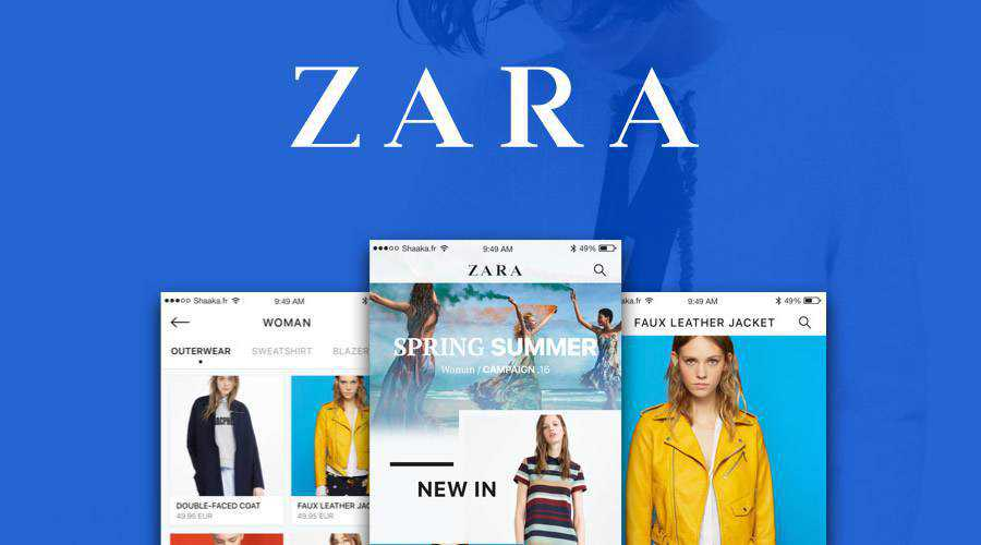 Zara iOS free mobile app ui kit Sketch ios android