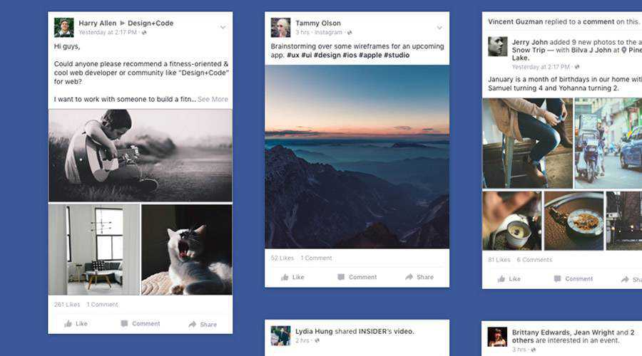 Facebook iOS App News free mobile app ui kit Sketch ios android