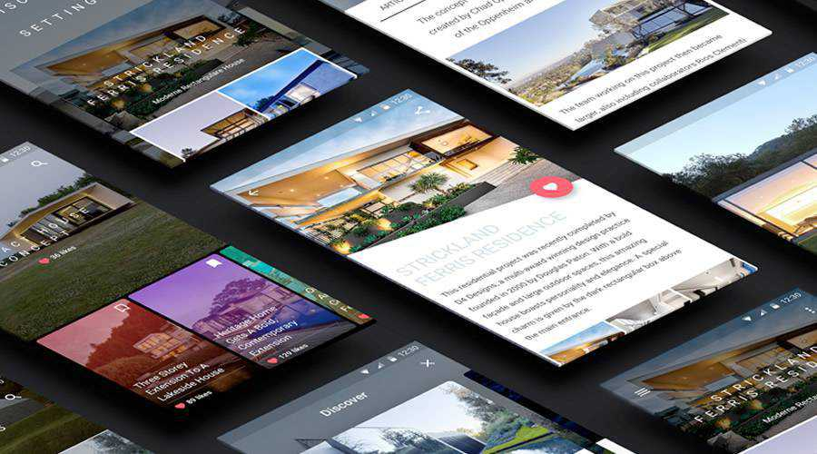 Minimal free mobile app ui kit Sketch ios android
