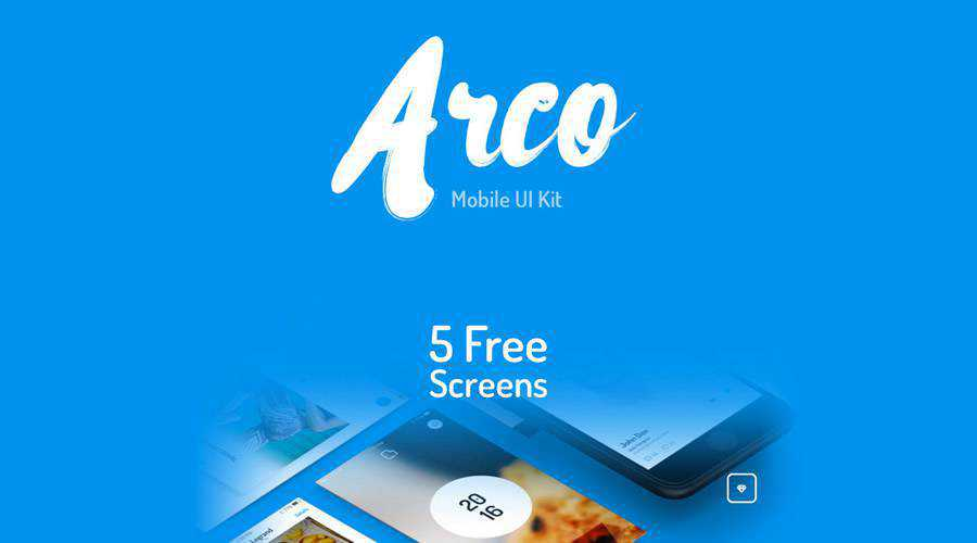 Arco free mobile app ui kit Photoshop psd Sketch ios android