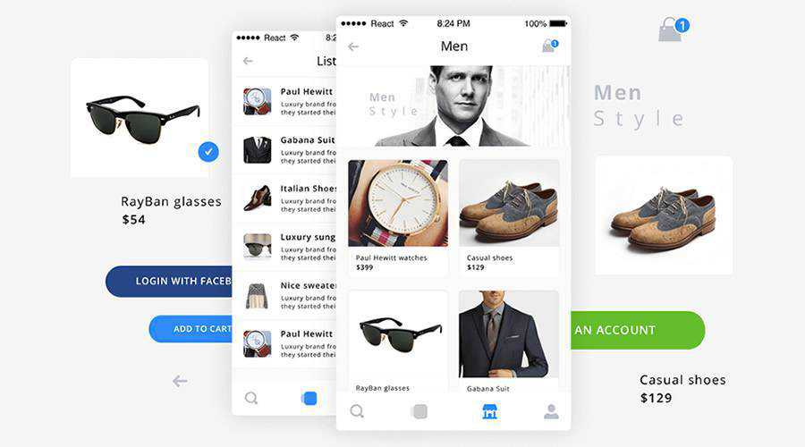 Guacamole free mobile app ui kit Sketch Adobe XD Photoshop ios android