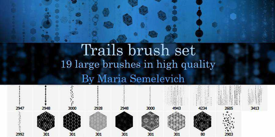 Trails Brush Set 19 Brushes ABR