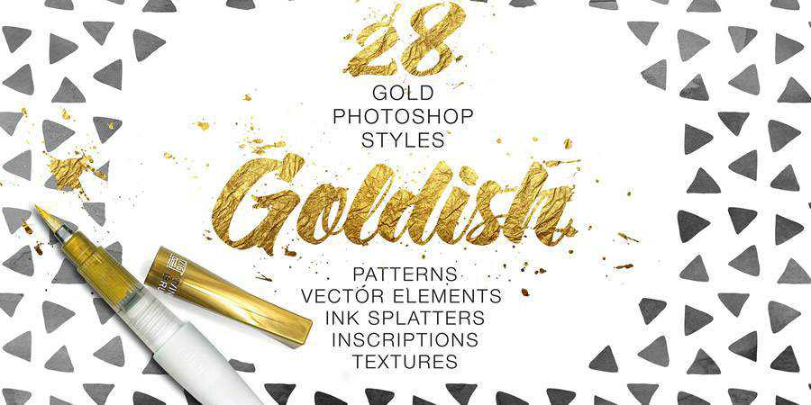 Goldish Kit For Photoshop Extras ABR