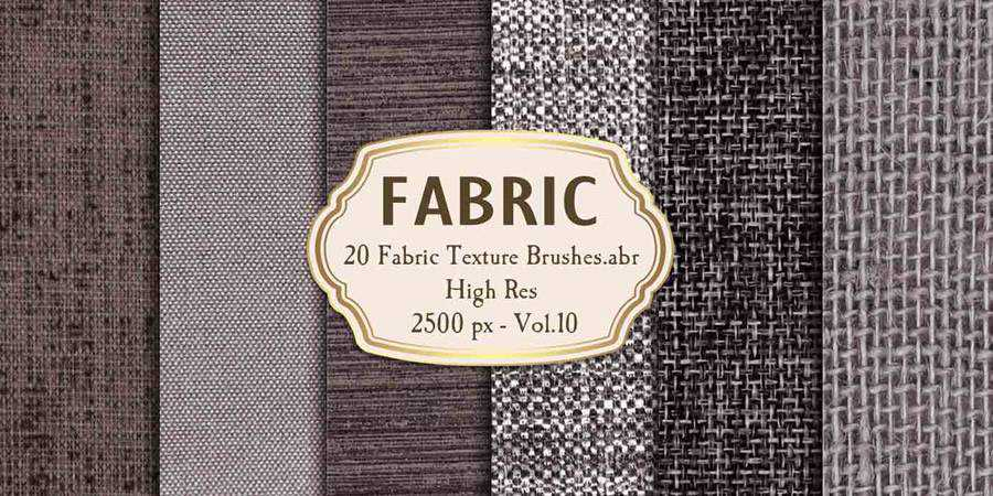High Resolution Fabric Texture Photoshop Brushes ABR