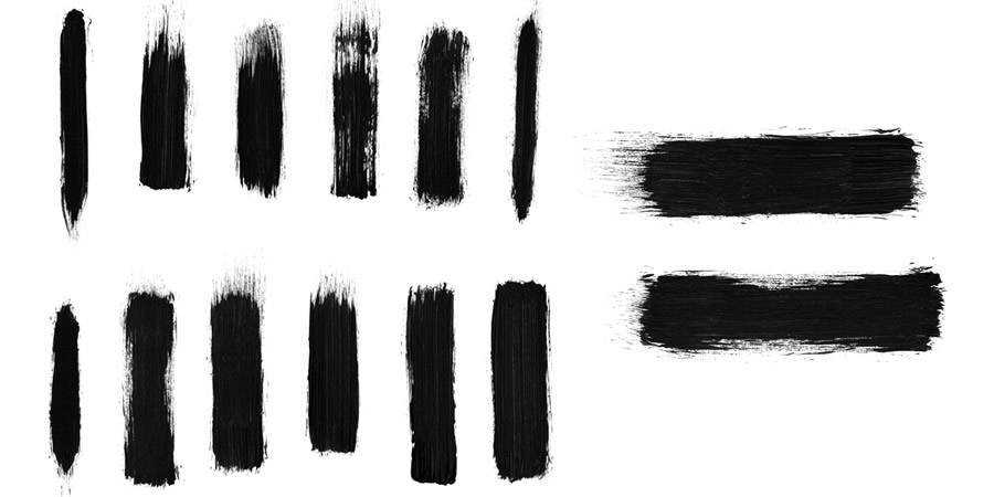 Free Photoshop Brush Packs High Res Dry Brush Stroke Brushes there are 12 Brushes in the pack