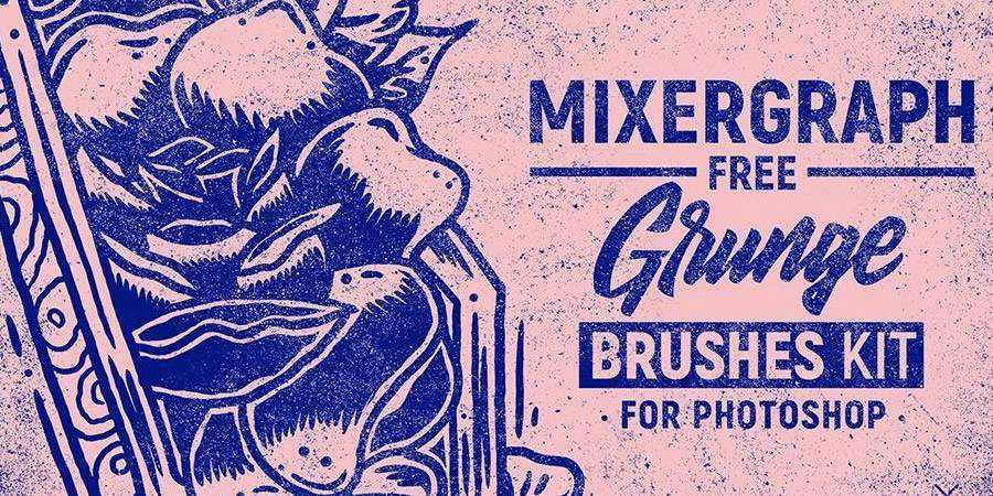 Mixergraph Grunge free photoshop brushes ABR