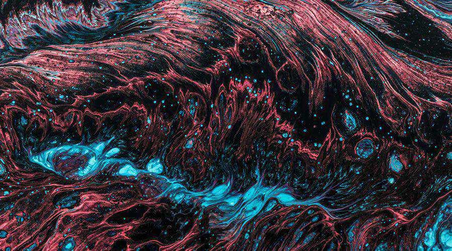 Red Blue Fluid Abstract Painting desktop wallpaper hd 4k high-resolution
