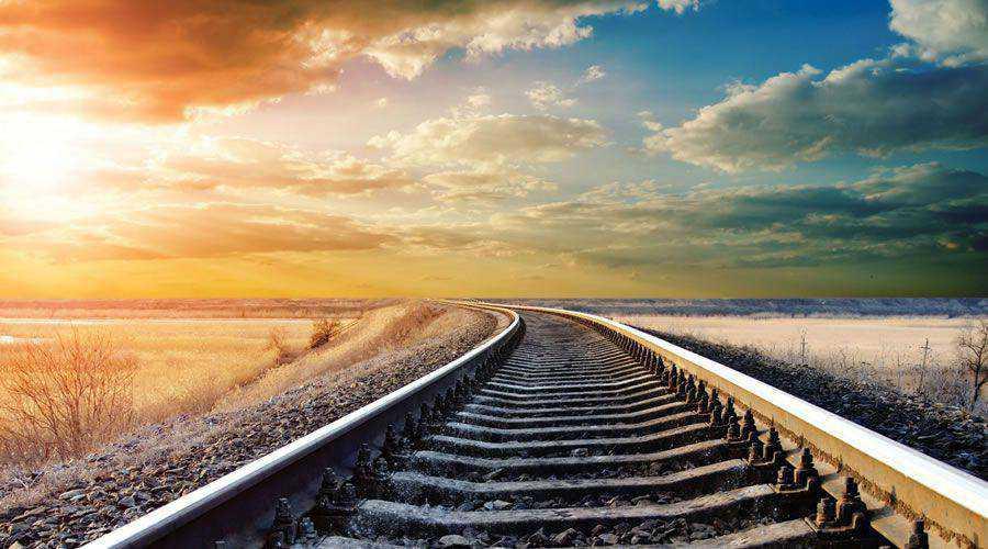 Remote Railway Tracks at Sunset desktop wallpaper hd 4k high-resolution