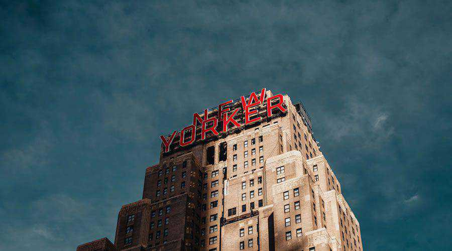 New Yorker Building Dramatic Sky desktop wallpaper hd 4k high-resolution