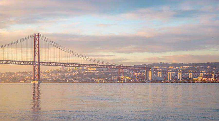 Bridge at Sunset desktop wallpaper hd 4k high-resolution
