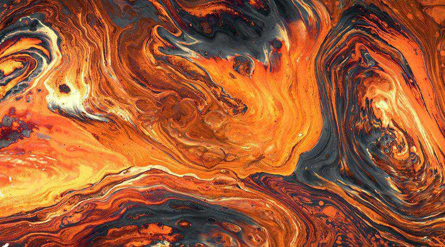 Orange Abstract Painting desktop wallpaper hd 4k high-resolution