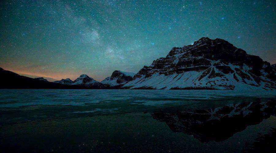 Lake Mountains Stars desktop wallpaper hd 4k high-resolution
