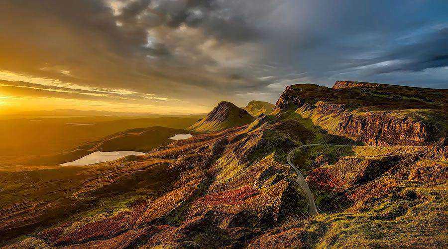 Glorious Scottish Mountains at Sunset desktop wallpaper hd 4k high-resolution