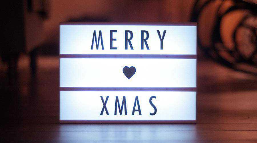 Merry Xmas LED Sign christmas hd wallpaper desktop high-resolution background