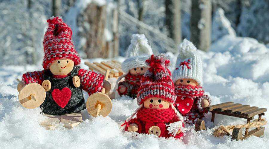 Wooden Christmas Doll Scene christmas hd wallpaper desktop high-resolution background