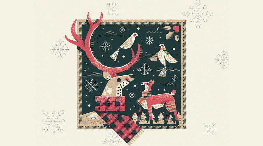 Winter Love Illustration christmas hd wallpaper desktop high-resolution background