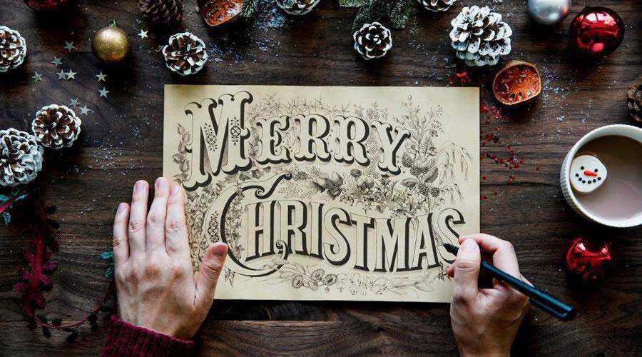 Merry Christmas Handwriting Card hd wallpaper desktop high-resolution background
