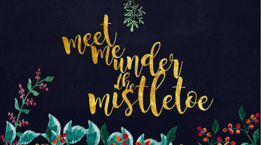 Meet Me Under the Mistletoe christmas hd wallpaper desktop high-resolution background