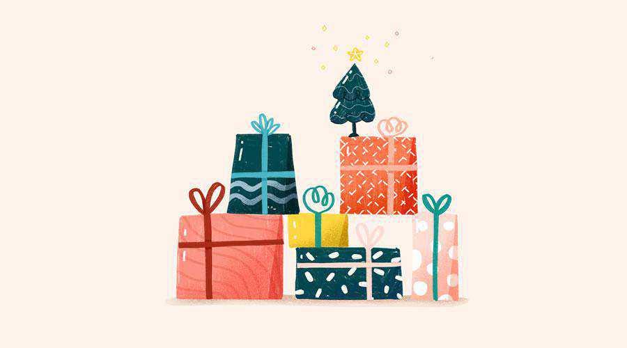 Christmas Present Illustration hd wallpaper desktop high-resolution background