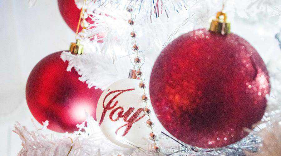 Red Christmas Tree Baubles hd wallpaper desktop high-resolution background