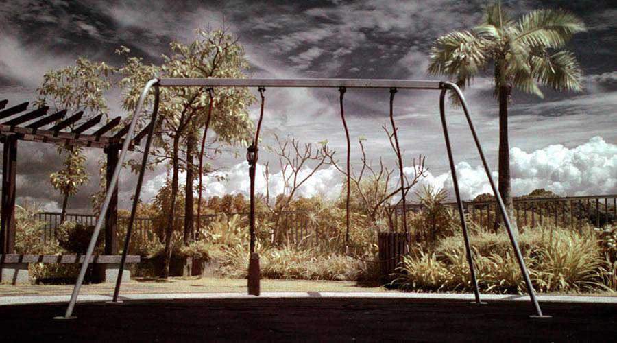 infrared photography Lonely inspiration