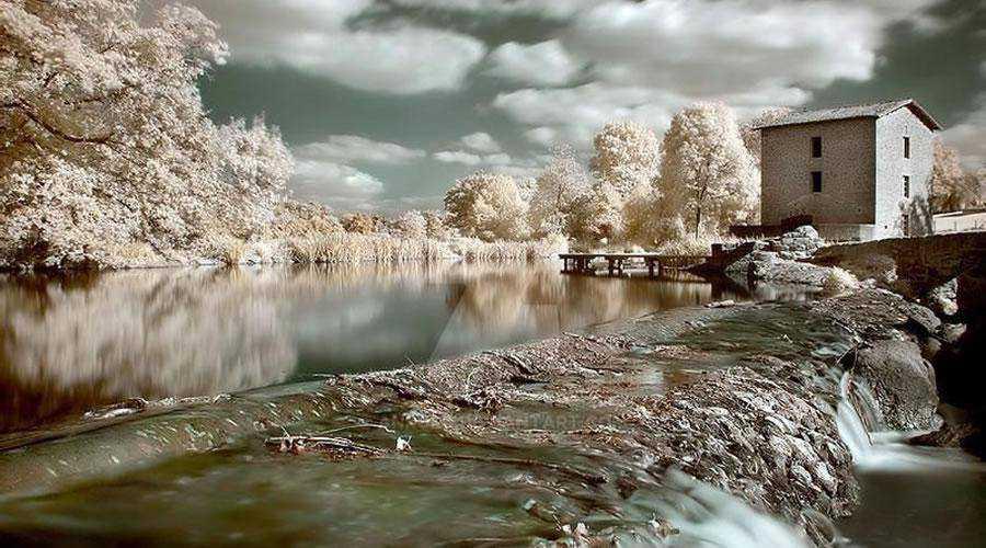infrared photography Moulin de la Roche inspiration