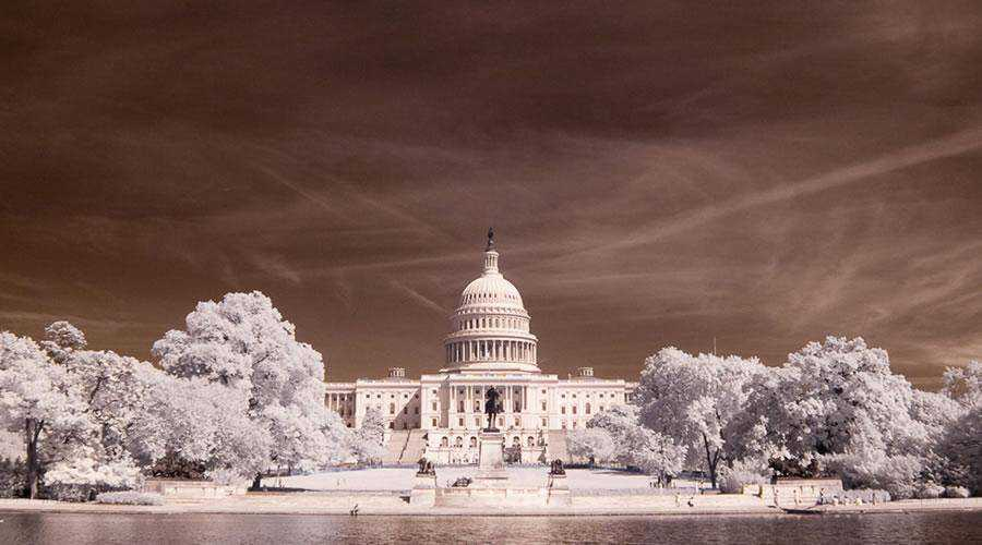shot infrared U.S. Capitol inspiration