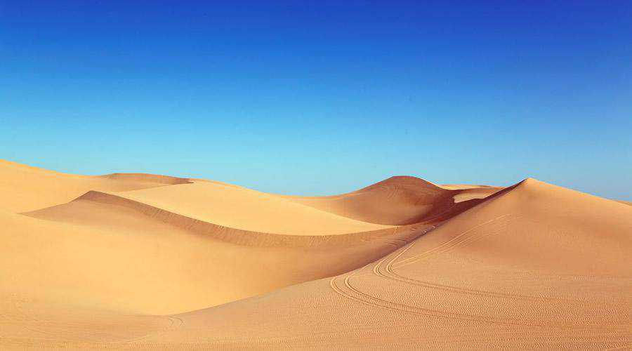 Golden Sand Dunes & Blue Sky minimal minimalistic desktop wallpaper hd 4k high-resolution
