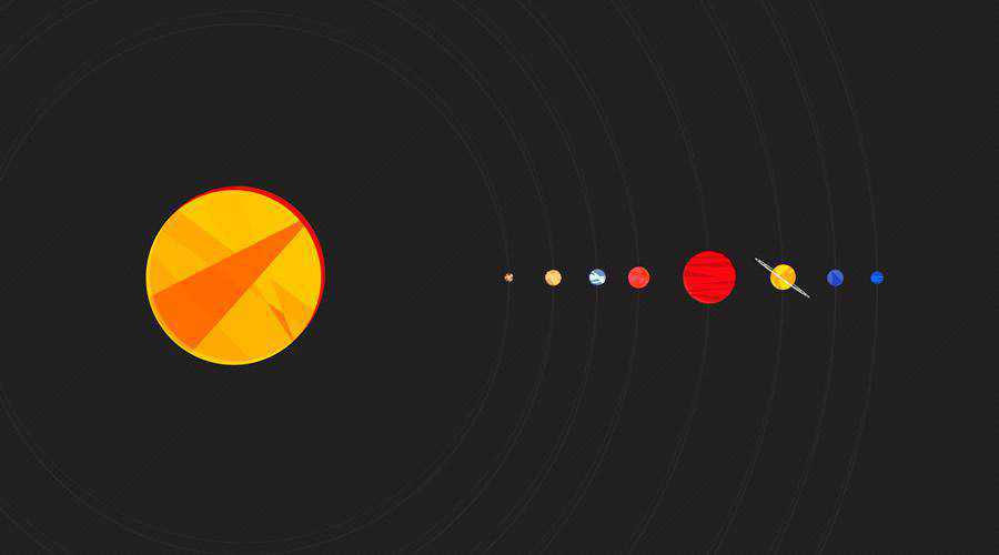 Solar System minimal minimalistic desktop wallpaper hd 4k high-resolution