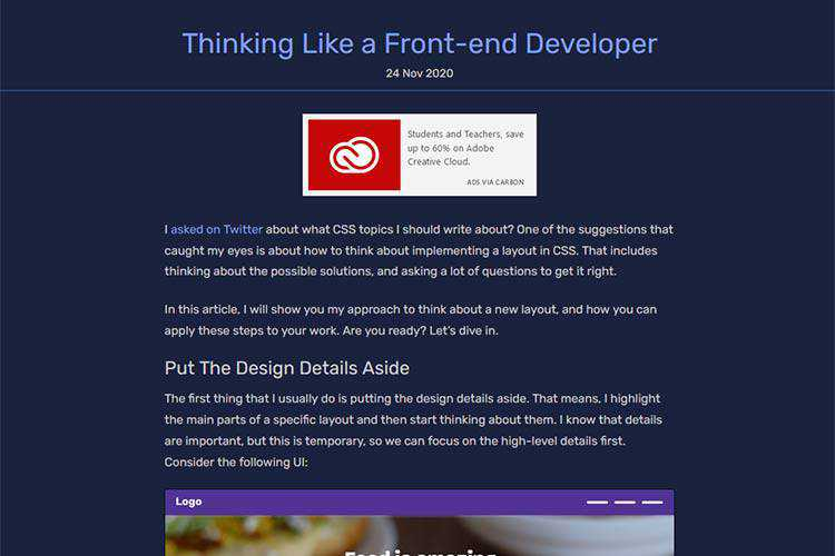 Example from Thinking Like a Front-end Developer