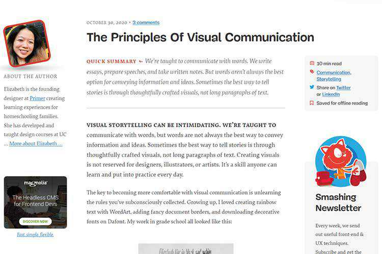 Example from The Principles Of Visual Communication