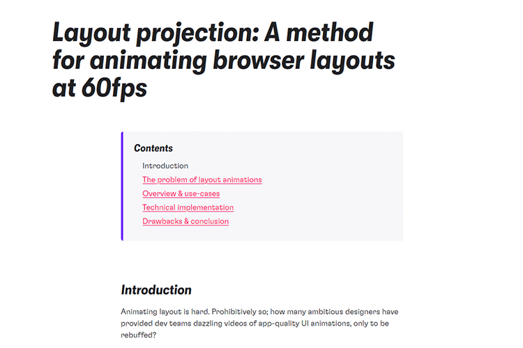 Example from Layout projection