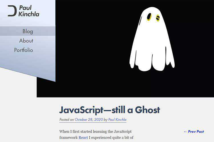Example from JavaScript—still a Ghost