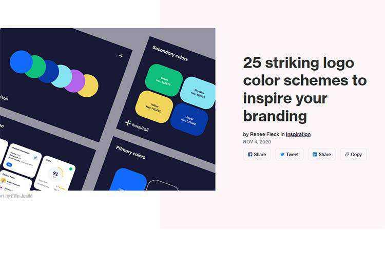 Muestra de 25 combinaciones de colores de logotipos llamativos para inspirar su marca