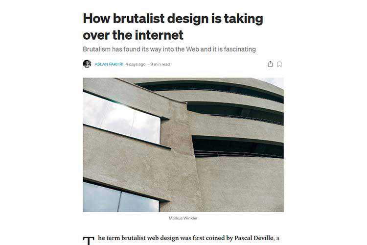 Example from How brutalist design is taking over the internet
