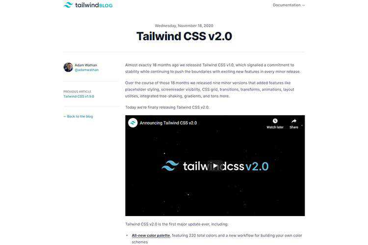 Example from Tailwind CSS v2.0