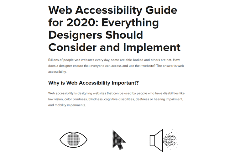 Example from Web Accessibility Guide for 2020