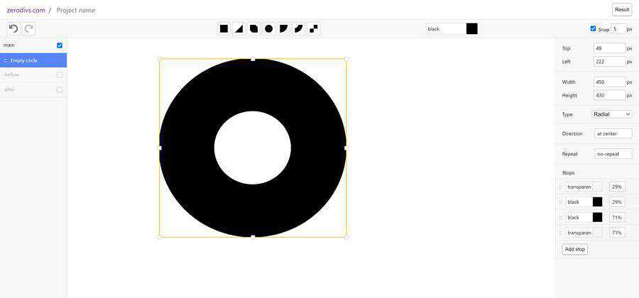 css experimental UI editor  web-based tool free web design example