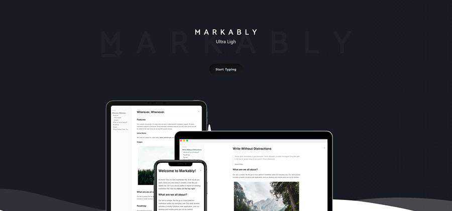 Markably web-based tool free web design example