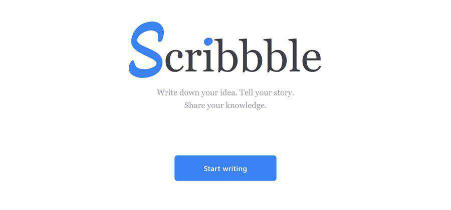 Scribbble web-based tool free web design example