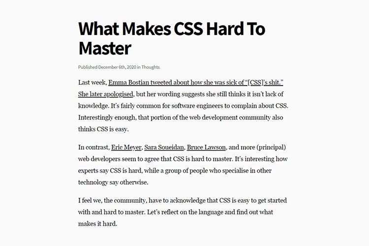 Example from What Makes CSS Hard To Master