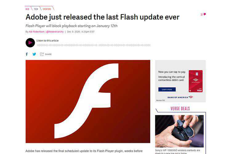 Example from Adobe just released the last Flash update ever