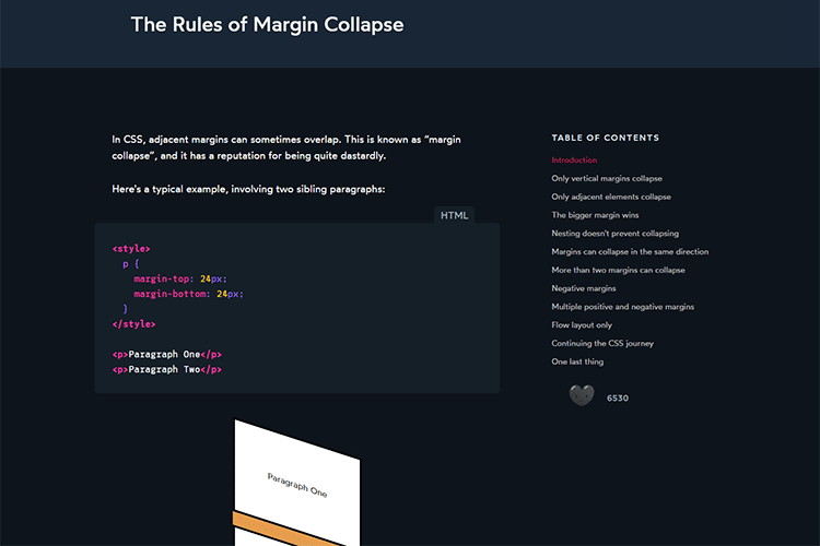 Example from The Rules of Margin Collapse